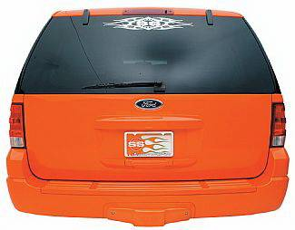 Street Scene - Ford Expedition Street Scene Trailer Hitch Cover with Backup Sensor - Urethane - 950-01020