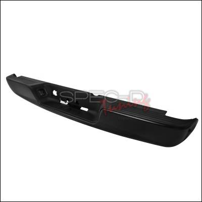Spec-D - Dodge Ram Spec-D Rear Bumper Step - Black - SRB-RAM044BBK-FS