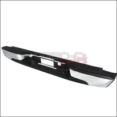 Spec-D - Chevrolet Silverado Spec-D Rear Bumper Step - Chrome - SRB-SIV99CR-FS