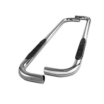 Spyder - GMC CK Truck Spyder 3 Inch Round Side Step Bar T-304 Stainless Steel Polished - SSB-CCK-A07S0415