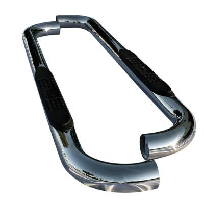 Spyder Auto - Dodge Ram Spyder 3 Inch Round Side Step Bar - Polished T-304 Stainless Steel - SSB-DR-A07S0807T