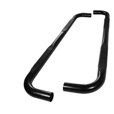 Spyder - Ford Explorer Spyder 3 Inch Round Side Step Bar- Powder Coated Black - SSB-FE-A07S0519H-BK