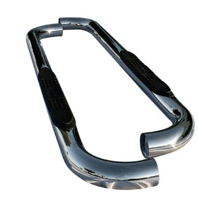 Spyder - Ford F150 Spyder 3 Inch Round Side Step Bar T-304 Stainless SteelPolished - SSB-FF-A07S0501