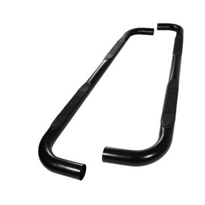 Spyder - Ford F-Series Spyder 3 Inch Round Side Step Bar- Powder Coated Black - SSB-FF-A07S0525-BK