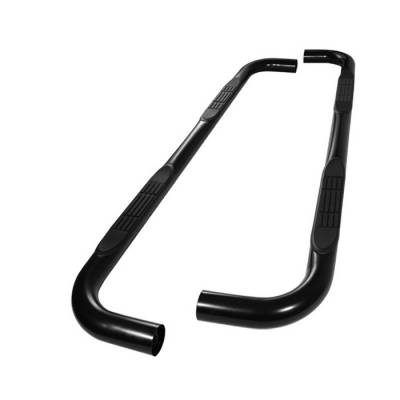 Spyder - Toyota 4Runner Spyder 3 Inch Round Side Step Bar- Powder Coated Black - SSB-T4-A07S1009-BK