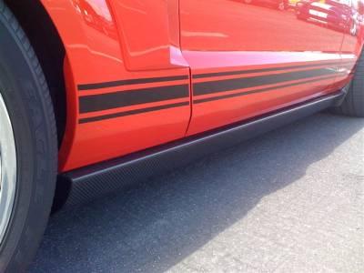 TruFiber - Ford Mustang TruFiber Carbon Fiber XR-2 Side Skirts TC10024-XR2
