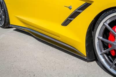 TruFiber - Chevy Corvette TruFiber LG214 Side Splitters TF30221-LG214