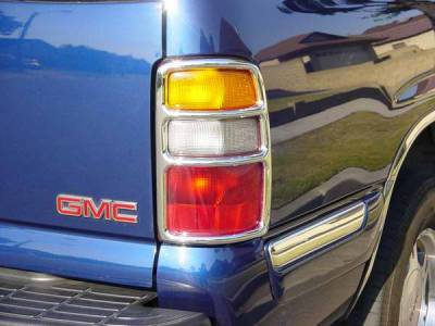 TFP - TFP Chrome ABS Taillight Insert Accent - D Style - 310D
