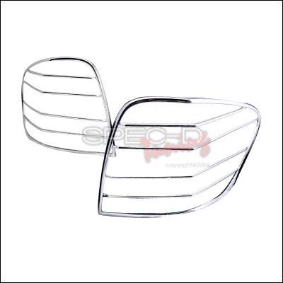 Spec-D - Mercedes-Benz ML Spec-D Taillight Trim - Chrome - TLT-BW16406C