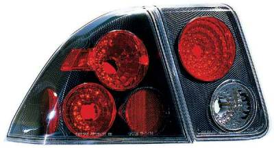 TYC - TYC Euro Taillights with Carbon Fiber Housing - 81541331
