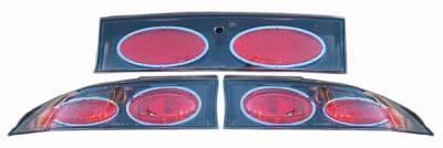 TYC - TYC Euro Taillights with Gun Metal Housing - 81542181