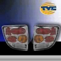 TYC - TYC Chrome Euro Taillights with Amber Turn Signal - 81545502
