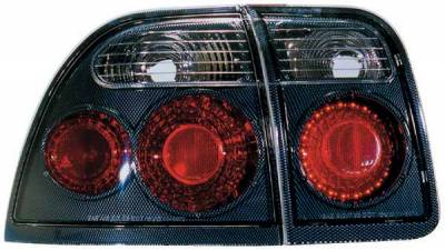 TYC - TYC Euro Taillights with Carbon Fiber Housing - 81547131