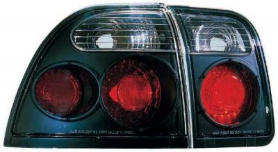 TYC - TYC Euro Taillights with Black Housing - 81547141