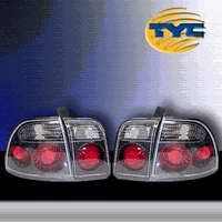 TYC - TYC Euro Taillights with Gun Metal Housing - 81547181