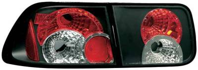 TYC - TYC Euro Taillights with Black Housing - 81551741