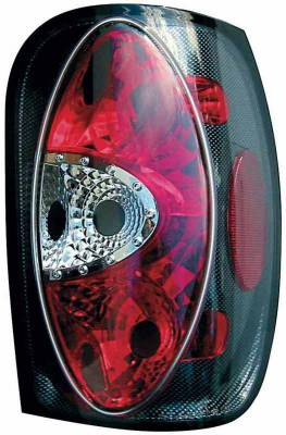 TYC - TYC Euro Taillights with Carbon Fiber Housing - 81554931