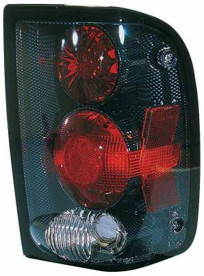 TYC - TYC Euro Taillights with Carbon Fiber Housing - 81555331