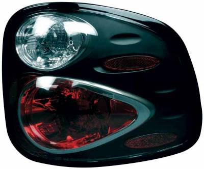 TYC - TYC Euro Taillights with Black Housing - 81567141
