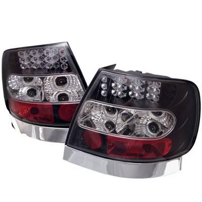 Spyder - Audi A4 Spyder LED Taillights - Black - 111-AA496-LED-BK