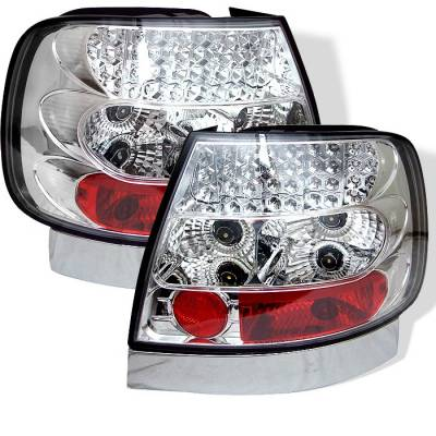 Spyder. - Audi A4 Spyder LED Taillights - Chrome - 111-AA496-LED-C