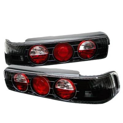 Spyder - Acura Integra 2DR Spyder Euro Style Taillights - Black - 111-AI90-BK
