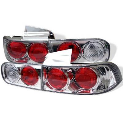 Spyder - Acura Integra 4DR Spyder Euro Style Taillights - Chrome - 111-AI94-4D-C