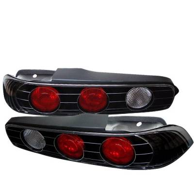 Spyder - Acura Integra 2DR Spyder Euro Style Taillights - Black - 111-AI94-BK
