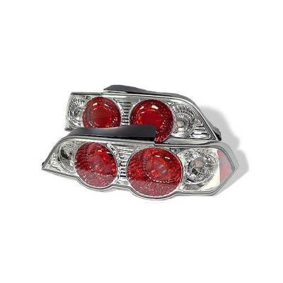 Spyder - Acura RSX Spyder Euro Style Taillights - Chrome - 111-ARSX02-C