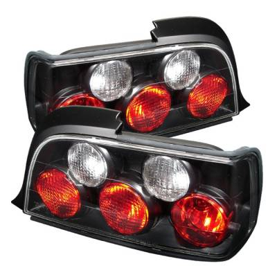 Spyder - BMW 3 Series 2DR Spyder Euro Style Taillights - Black - 111-BE3692-2D-BK
