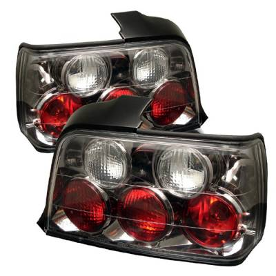 Spyder - BMW 3 Series 4DR Spyder Euro Style Taillights - Black - 111-BE3692-4D-BK