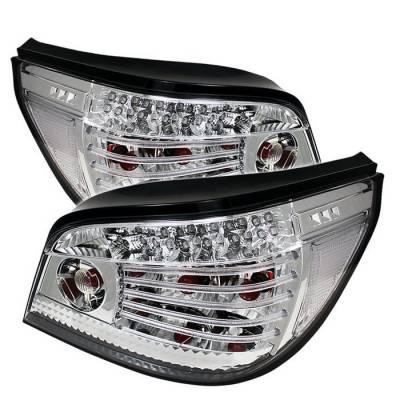 Spyder - BMW 5 Series Spyder LED Taillights - Chrome - 111-BE6004-LED-C