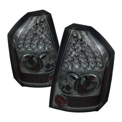 Spyder Auto - Chrysler 300 Spyder LED Taillights - Smoke - 111-C308-LED-BK
