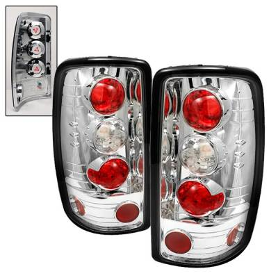 Spyder Auto - GMC Yukon Spyder Altezza Taillights - Chrome - 111-CCRZ11-LBLED-RS