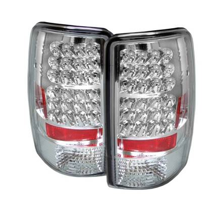 Spyder - GMC Yukon Spyder LED Taillights - Chrome - 111-CD00-LED-C