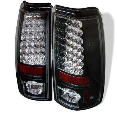 Spyder - Chevrolet Silverado Spyder LED Taillights - Black - 111-CS03-LED-BK