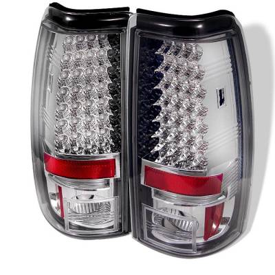 Spyder - Chevrolet Silverado Spyder LED Taillights - Chrome - 111-CS03-LED-C