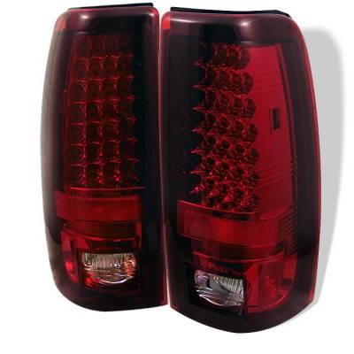 Spyder - Chevrolet Silverado Spyder LED Taillights - Red Clear - 111-CS03-LED-RC