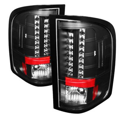 Spyder - Chevrolet Silverado Spyder LED Taillights - Black - 111-CS2010-LED-BK