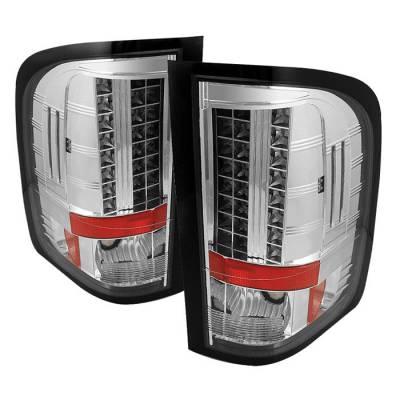 Spyder - Chevrolet Silverado Spyder LED Taillights - Chrome - 111-CS2010-LED-C