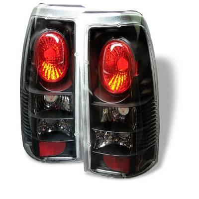 Spyder - Chevrolet Silverado Spyder Euro Style Taillights - Black - 111-CS99-BK