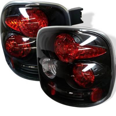 Spyder - Chevrolet Silverado Spyder Euro Style Taillights - Black - 111-CS99STS-BK