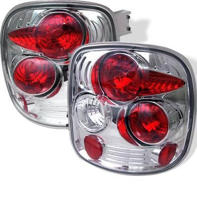 Spyder - Chevrolet Silverado Spyder Euro Style Taillights - Chrome - 111-CS99STS-C