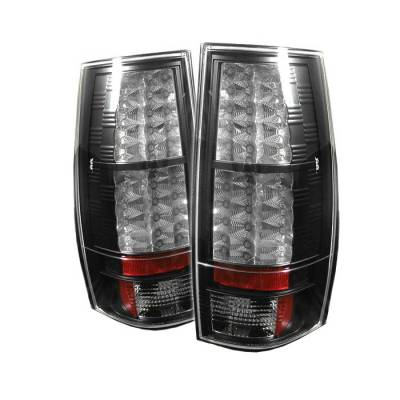 Spyder - GMC Yukon Spyder LED Taillights - Black - 111-CSUB07-LED-BK