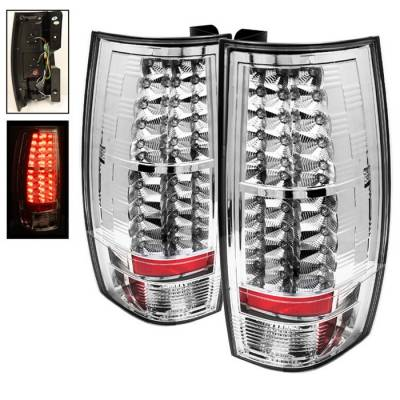 Spyder - GMC Yukon Spyder LED Taillights - Chrome - 111-CSUB07-LED-C