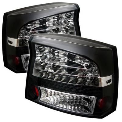 Spyder - Dodge Charger Spyder LED Taillights - Black - 111-DCH05-LED-BK