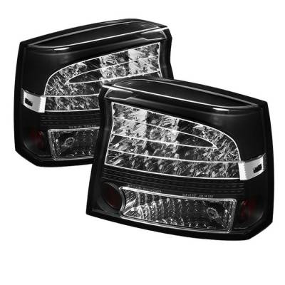Spyder - Dodge Charger Spyder LED Taillights - Black - 111-DCH09-LED-BK