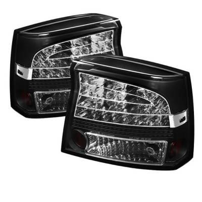 Spyder - Dodge Charger Spyder LED Taillights - Black - 111-DCH09-LED-BK
