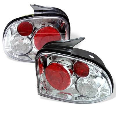 Spyder - Dodge Neon Spyder Euro Style Taillights - Chrome - 111-DN95-C