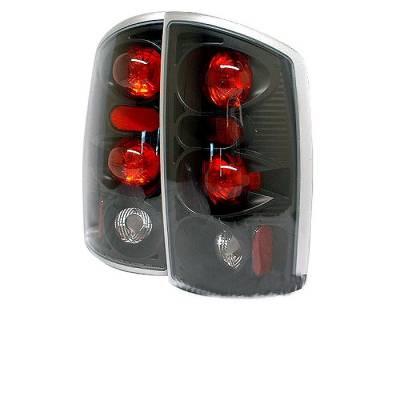 Spyder - Dodge Ram Spyder Euro Style Taillights - Black - 111-DRAM02-BK